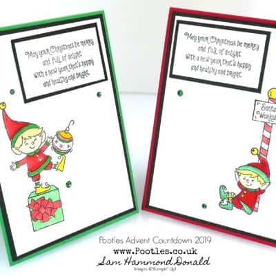Pootles Advent Countdown 2019 #4 #Elfie Card Tutorial