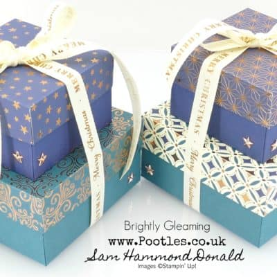 Brightly Gleaming Double Stack Gift Box Tutorial