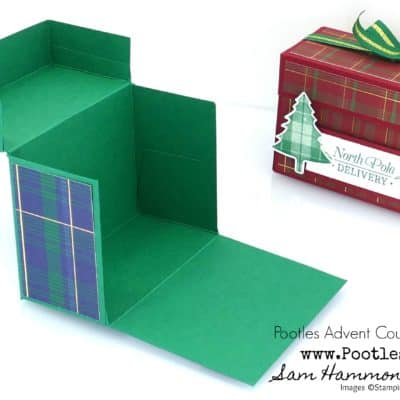 Pootles Advent Countdown 2019 #11 Drop Fronted Box Tutorial