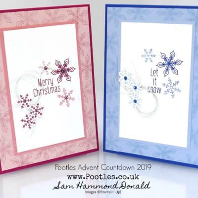 Pootles Advent Countdown 2019 #12 To Every Season Snowflake Punch Card