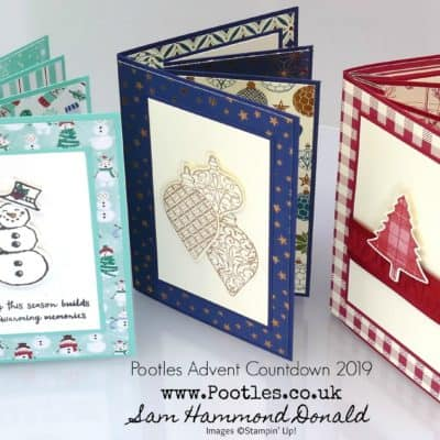 Pootles Advent Countdown 2019 #13 Team Training Fancy, Fancy Card Tutorial!