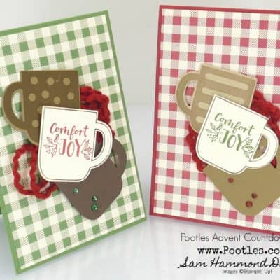 Pootles Advent Countdown 2019 #17 Cup of Christmas Card Tutorial