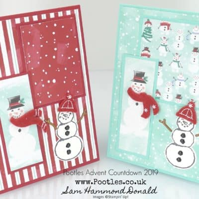Pootles Advent Countdown 2019 #19 Snowman Season Layered Card