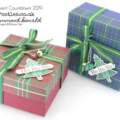 Pootles Advent Countdown 2019 #21 Perfectly Plaid Boy Box Tutorial