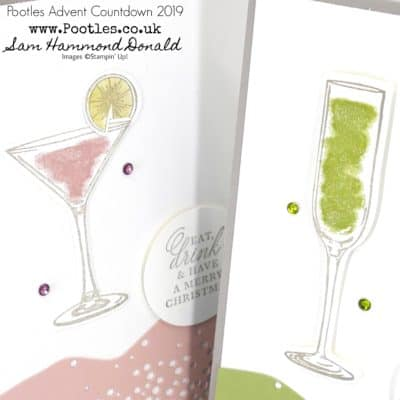 Pootles Advent Countdown 2019 #9 Sip Sip Cocktail Card