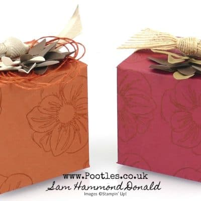2 5inch Tone on Tone Autumnal Cube Box Tutorial