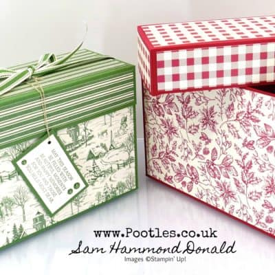 Toile Tidings Large Lidded Box Tutorial