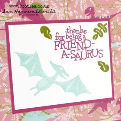 Dino Days and DinoRoar Friendship Card