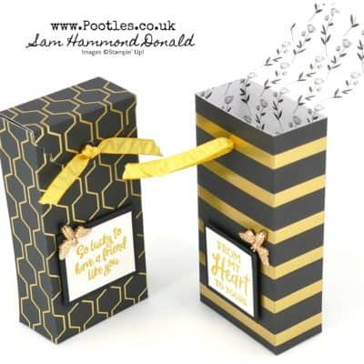 Golden Honey Tag Topper Box Tutorial