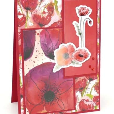 Peaceful Poppies Red Layered Card Idea