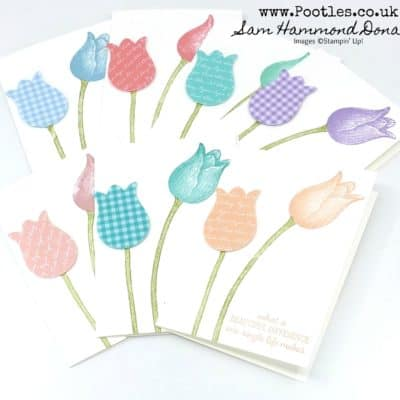 Timeless Tulips Customer Thank You Cards