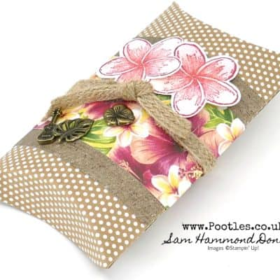 Tropical Oasis Pillow Box Treat Pouch