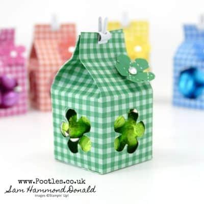 Cute Chocolate Foil Window Milk Cartons