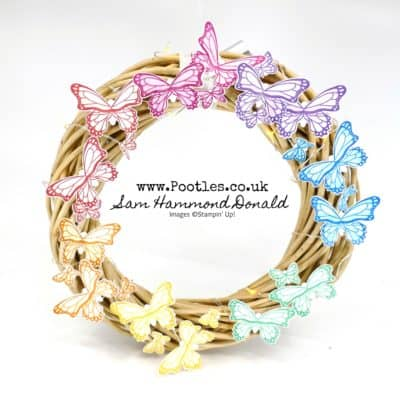 Sam's Rainbow Birthday Butterfly Illuminated Wreath