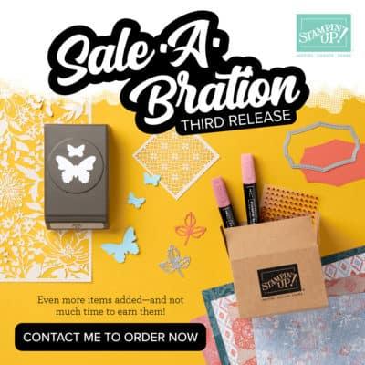 Sale a Bration 3rd Release – catalogue freebies!!!!