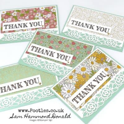 Customer Thank You Cards and Ornate Garden Showcase