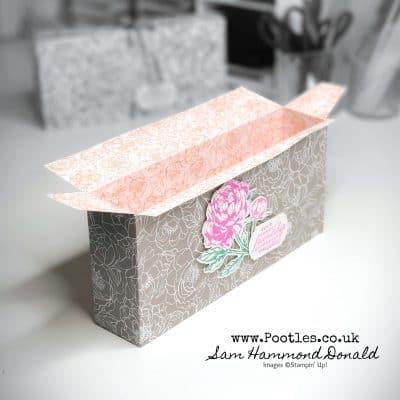 Beautiful Peony Gardens Paper Box Tutorial
