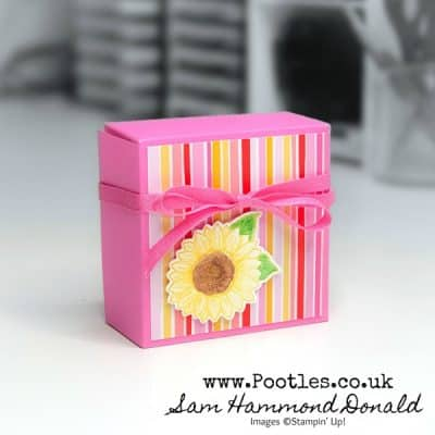 Fold Over Box Tutorial using Celebrate Sunflowers