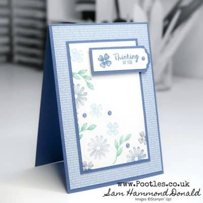 Framed For You Tumbling Flowers Card Idea