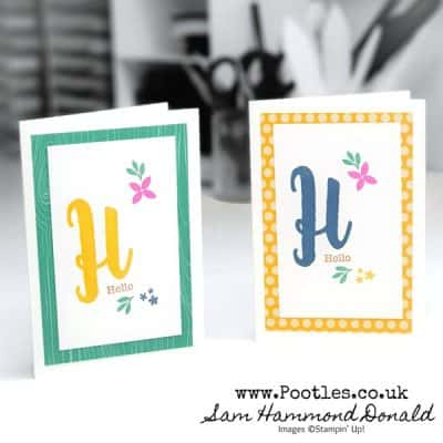 Monogram Messages Customer Thank You Cards