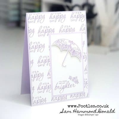 Pretty Parasol Single Colour Card Idea