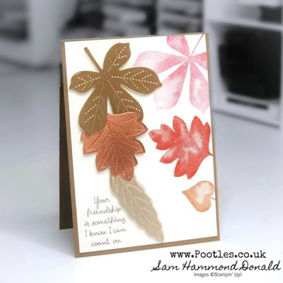 A Love of Stitched Leaves with Brushed Metallic Foil