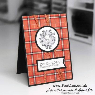 Fun Masculine Card – Way To Goat with Plaid Tidings