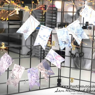 How To Make Quick And Easy Festive Bunting using Feels Like Frost