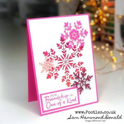 How To Make an Ombre Glitter Snowflake Card