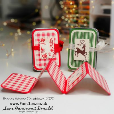 Pootles Advent Countdown 2020 Easy Concertina Card in a Tin
