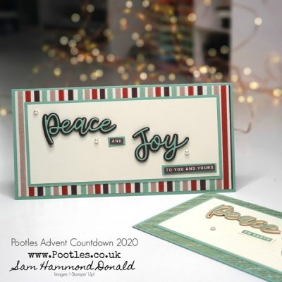 Pootles Advent Countdown 2020 How To Make a Slim DL Card with Peace and Joy