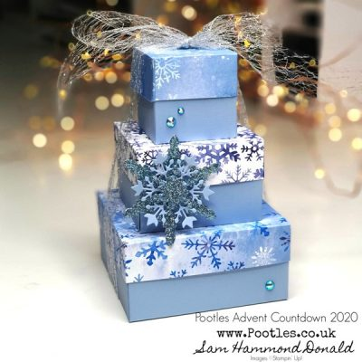 Pootles Advent Countdown 2020 How To Make a Stack of Snowflake Boxes