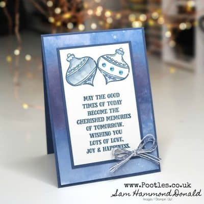 A Simply Stamped Christmas Card using Tag Buffet