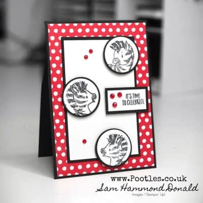 Cute Card using Zany Zebras – planning a party??