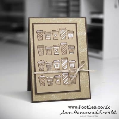 Great Coffee Cup Card using Press On Stamp Set and Chalk Marker