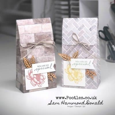 Stylish Folded Top Gift Bag Tutorial using In Good Taste