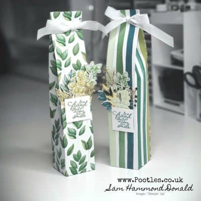 How To Make a Tall Gift Box using Forever Greenery
