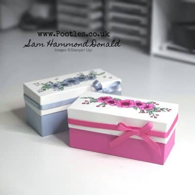 A Beautiful Hand Coloured Lidded Box using Bloom and Grow