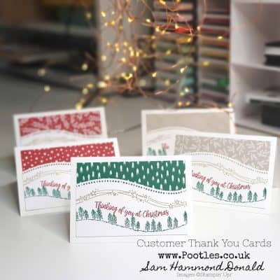 Pootlers Team Blog Hop – Curvy Christmas Customer Thank You Cards