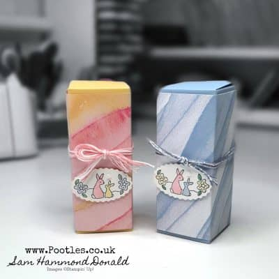 Easy Stick Fold Flat Box using Oval Occasions and Sea & Sand