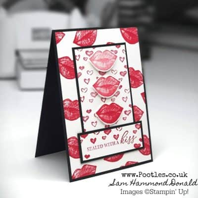 Hearts and Kisses All Over My Card!