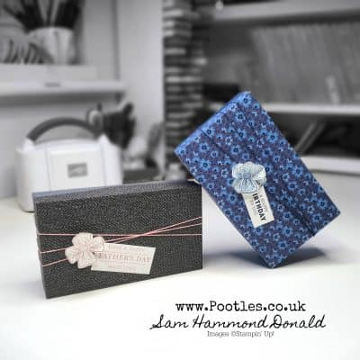 Simple Lidded Birthday Box using Well Suited