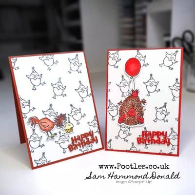 Adorable Birthday Chick Card using Blends