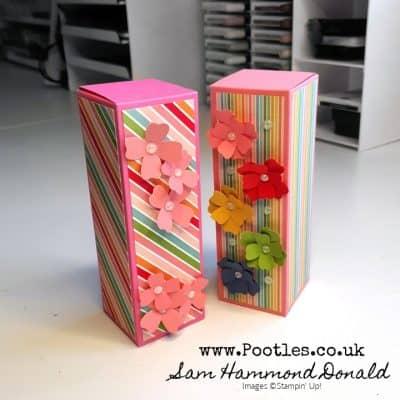 Gorgeous Fold-Flat Box using Free Paper!