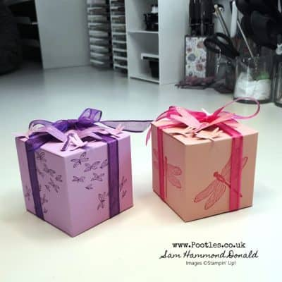 Dragonfly Dreams Hand Stamped Pretty Cube Box Tutorial