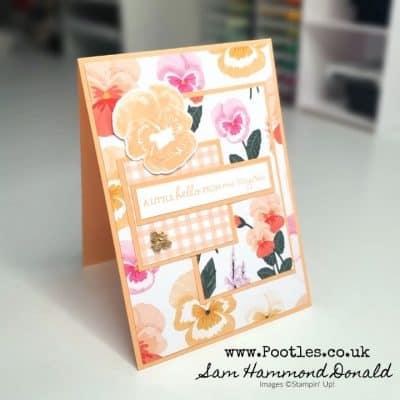 Pansy Petals Layered Card Idea