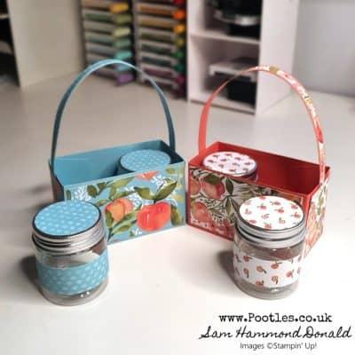 A Beautiful Peach Basket for Jam Jar Treats