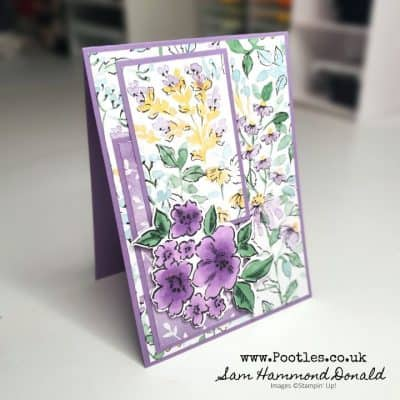 Such a Pretty Card using Hand-Penned and Blends