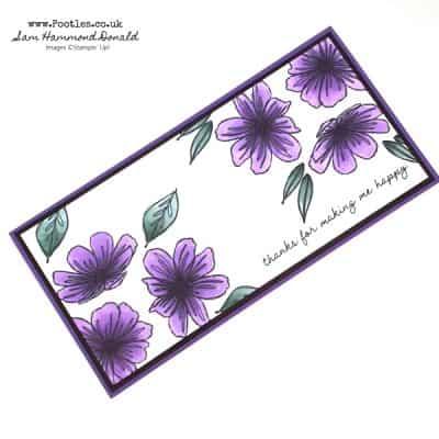 Art in Bloom Long Slim Card Idea