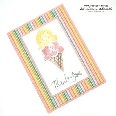 Strawberry and Vanilla Sweet Ice Cream Stack